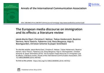 The European media discourse on immigration and its effects: a literature review