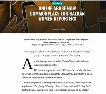 Online Abuse Now Commonplace for Balkan Women Reporters