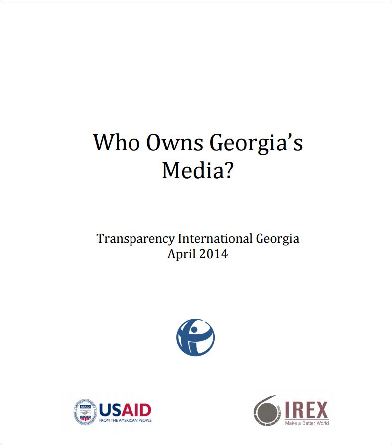 Who owns Georgia's media: Power networks and corporate