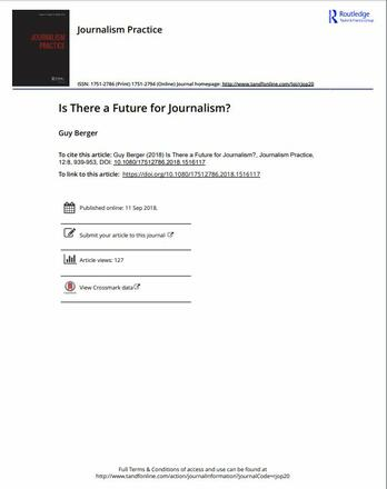 Is There a Future for Journalism?