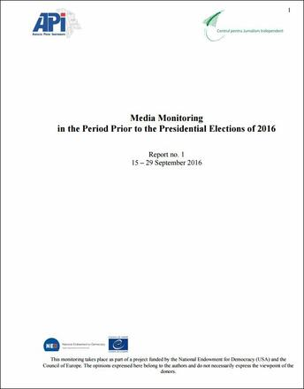 Moldova: Media monitoring during elections