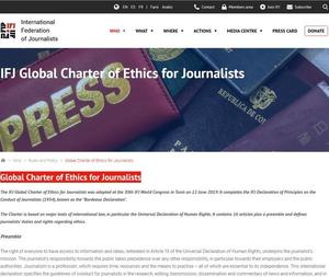 IFJ Global Charter of Ethics for Journalists